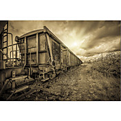 Printed Art Landscape Lost Train by Sebastien Lory