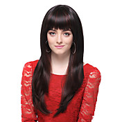 Capless High Quality Synthetic Black Long Silky Straight Hair Wigs