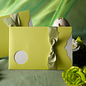 """Spring Green"" Wedding Invitation With Round Cutout (Set of 50)"