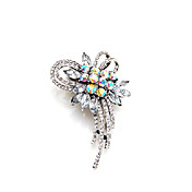 Fashionable Alloy With Rhinestones Brooch (More Colors)