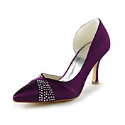 Mode Satin stilett hl pumpar med strass Brllop Shoes (Fler frger)