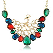 Elegant Colorful Peafowl Alloy with Rhinestone Women's Necklaces