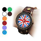Women's and Girl's the Union Jack Style PU Analog Quartz Wrist Watch (Assorted Colors)