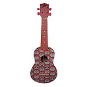 (Mood) Laminated Basswood Soprano Ukulele with Bag/String/Picks(Pink)