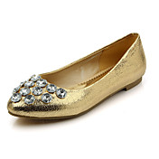 Stylish Leatherette Flat Heel Loafers & Slip-Ons With Rhinestone Party / Evening / Honeymoon Shoes