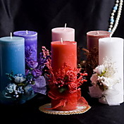 Colorful Candle With Bowknot