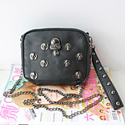 Mini Punk Skull Rivet Chain Crossbody&amp;Messenger Bag(Chain)