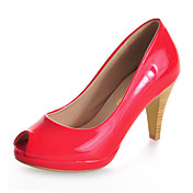 Patent Leather Stiletto Heel Peep Toe Office / Party / Evening Shoes (More Colors)