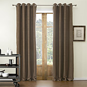 (Two Panels) Classic Embossed Novelty Blackout Curtains