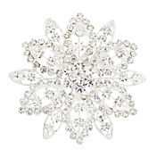 Fashion Alloy With Rhinestones Women's Brooch