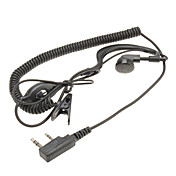 Two Way Radio Handsfree Ear Hook Microphone Earphone with curving wire DQ-KHQ-102