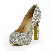 Belles Escarpin en cuir  talon aiguille avec strass fte / soire chaussures (plus de couleurs)