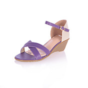 Fashion Leatherette Wedge Heel Sandals With Buckle Party / Evening Shoes(More Colors)