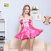 Innocent Girl Pink Satin Princess Costume (2 Pieces)