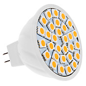 Bulbo do ponto MR16 5W 30x5050 SMD 400-420LM 3000-3500K Luz Warm White LED (12V)