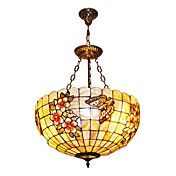 120W Tiffany Pendant Light com Colorful Nature Shell Material Sombra Integrado (Cadeia ajustável)