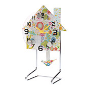 "4 ""Flower House Style Clock Pendulum analógica (1xAA)"