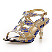 Stylish Leatherette Stiletto Heel Sandals With Rhinestone Party/Evening Shoes (More Colors)