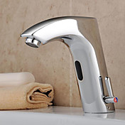 rubinetto lavabo bagno in ottone con sensore automatico (caldo e freddo)