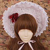 Handmade Light Pink cotone Sweet Lolita Bonnet