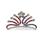 Beautiful CZ Cubic Zirconia Wedding Flower Girl Tiara/ Headpiece More Colors Available