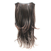 "21"" Clip in Hair Extensions Curly Drak Brown"