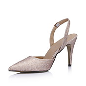 Stylish Sparkling Glitter Stiletto Heel Pumps With Buckle Party/Evening Shoes