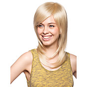 Capless High Quality Synthetic Medium Length Straight Wig