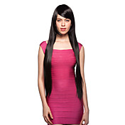 Capless Long 100% Imported Heat-resistant Black Costume Party Wig