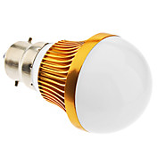 B22 6W 12x5730SMD 480-540LM 3000-3500K Warm Wit Licht Golden Shell LED Ball Bulb (85-265V)