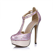Fabulous Sparkling Glitter Stiletto Heel Pumps With Buckle Party/Evening Shoes