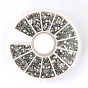 3600PCS Silver Acrylic Rhinestones Nail Art Decorations(2mm)