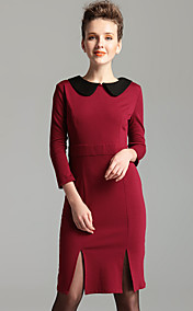 TS Vintage Style Lapel Sheath Dress (2 Colors)