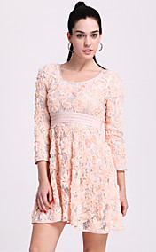 TS Ruched Flower Flair Dress (More Colors)