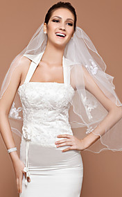 Two-tier Elbow Veil With Pencil Edge