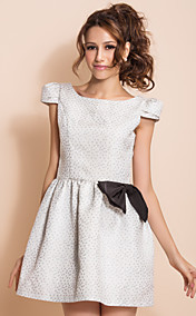 TS VINTAGE Puff Sleeve Bow Princess Dress
