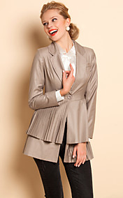 TS Layered Pleats Hem Blazer