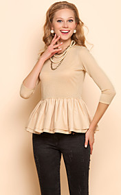 TS Elastic Ruffle Quarter Sleeve Blouse