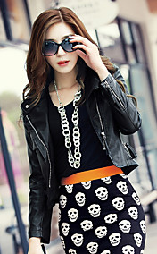 Nice Long Sleeve Standing Collar PU Casual/Party Jacket(More Colors)
