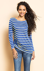 TS Stripes Jersey Gathered Blouse