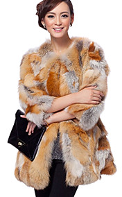 3/4 erme snipp Fox Fur Casual / Party Coat