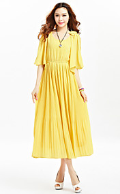 TS Bohemian Pleats Chiffon Midi Dress