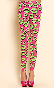 TS Lips Print Leggings