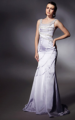 Satin Trumpet/ Mermaid Scoop Sweep/ Brush Train Evening Dress inspired by Natalie Imbruglia at Cannes Film Festival