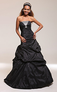 Trumpet/Mermaid Strapless Floor-length Taffeta Prom/Evening Dress