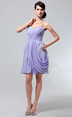 Chiffon A-line Spaghetti Straps Short/Mini Cocktail Dress inspired by Taylor Swift