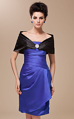 Satin With Rhinestone Clasp Wedding / Special Occasion Shawl (More Colors Available)