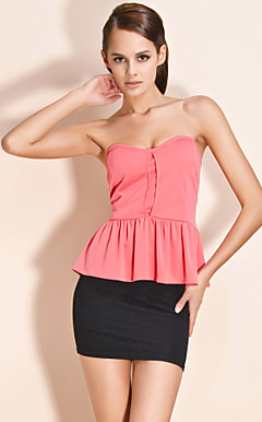 TS Sleeveless Bustier Blouse