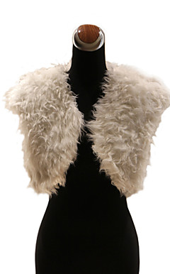 Elegant Faux Fur Lamb Fur Wedding / Special Occasion Jacket / Wrap