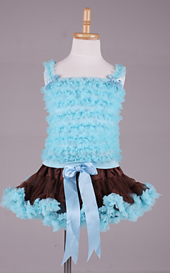 Sweet Petti Tops With Matching PettiDress Set Cotton/Tulle Flower Girl Dress